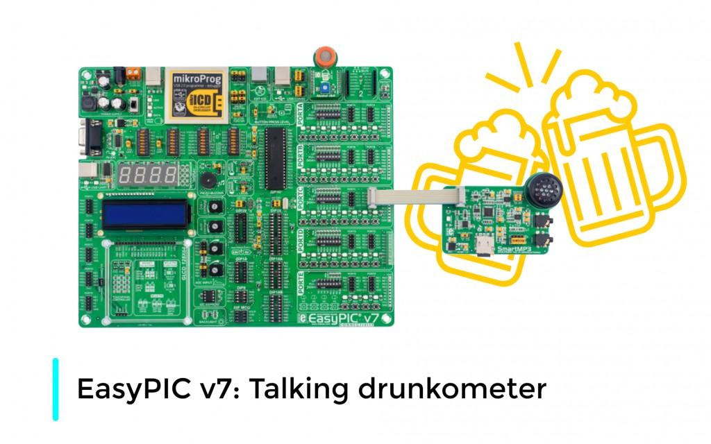 EasyPIC v7: Talking breathalyzer