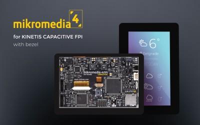 mikromedia 4 for Kinetis CAPACITIVE FPI with bezel