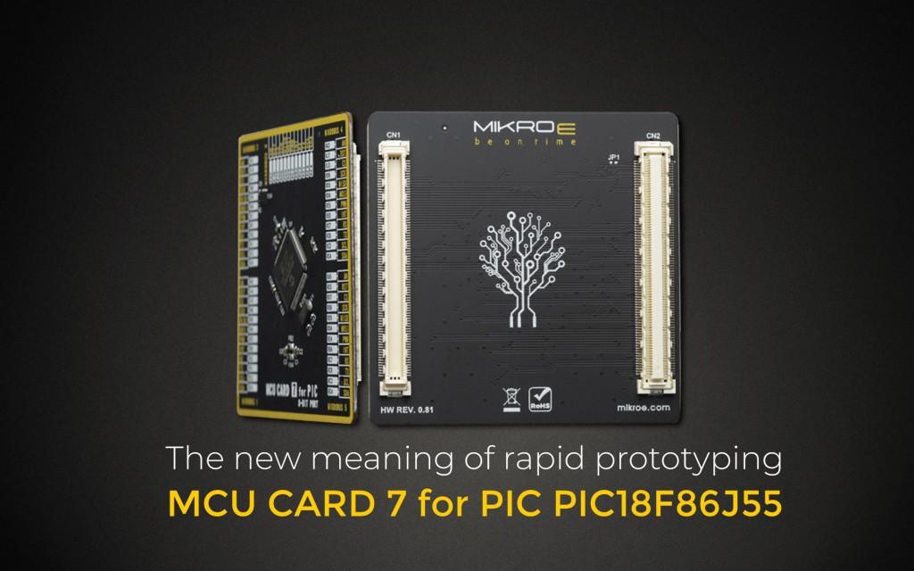 MCU CARD 7 FOR PIC PIC18F86J55