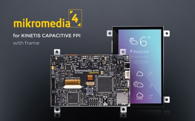 Mikromedia 4 for KINETIS Capacitive FPI with frame