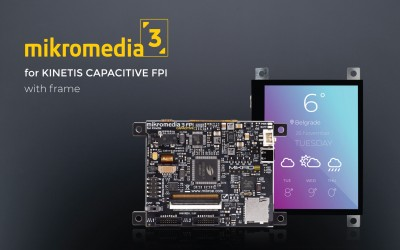 Mikromedia 3 for Kinetis Capacitive FPI with frame