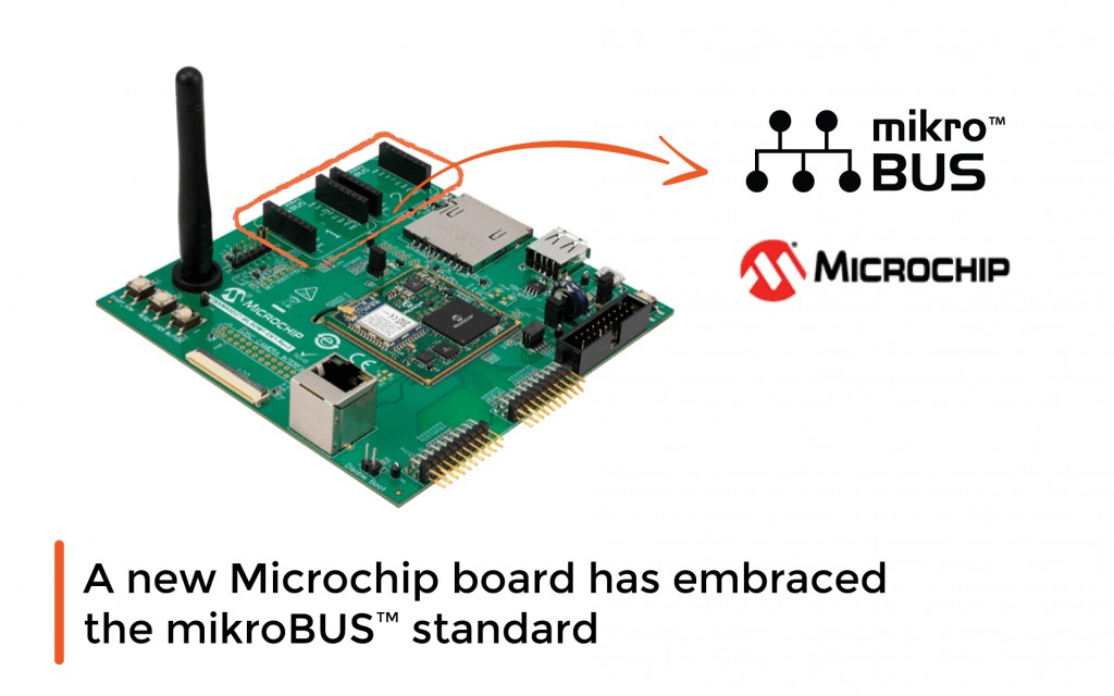 New Microchip board has embraced the mikroBUS™ standard