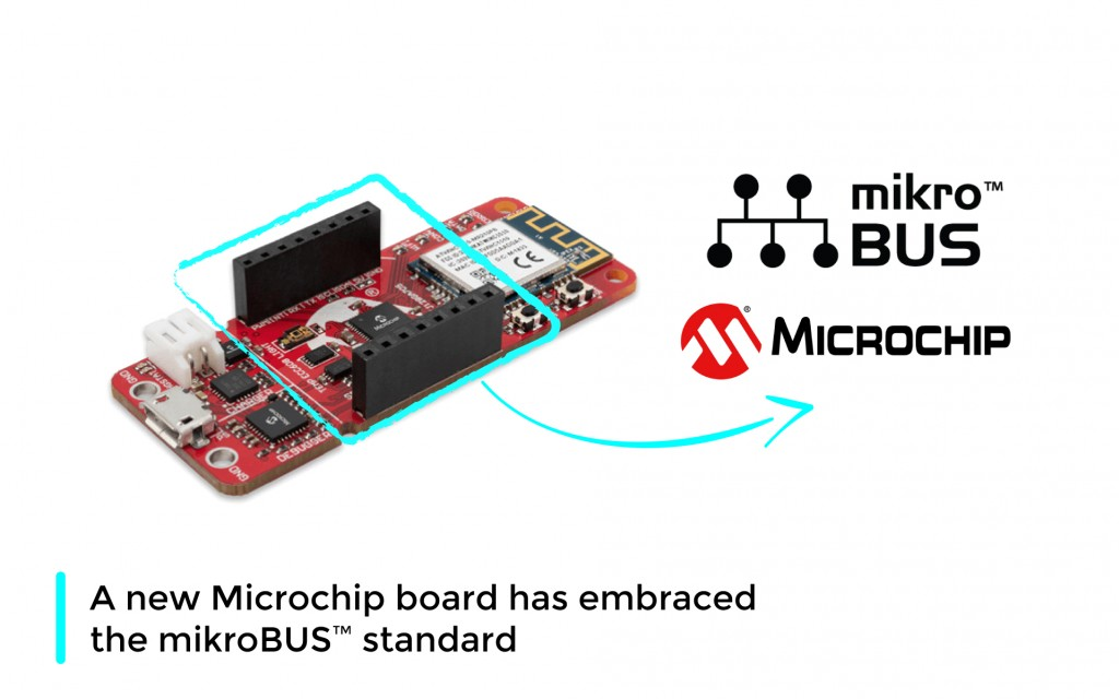 A new Microchip board has embraced the mikroBUS™ standard