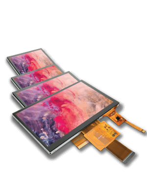TFT Color Displays with Touch Screen