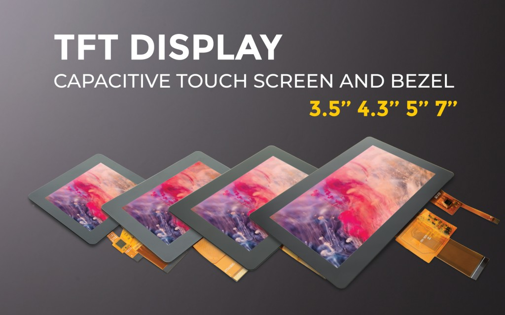 TFT Color Display with Touch Screen and Bezel