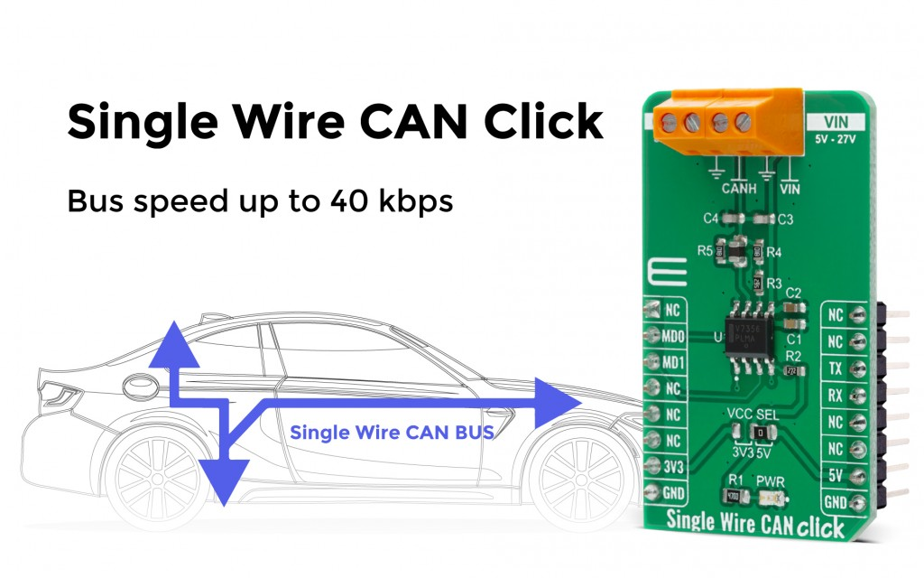 Single Wire CAN Click