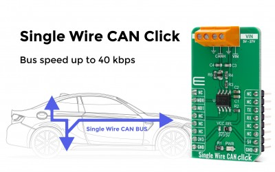 Single Wire CAN Click