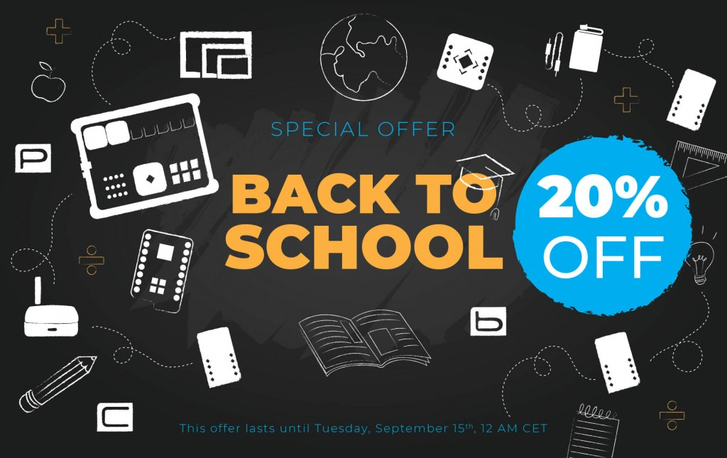 Kickstart your school year with 20% discount