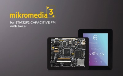 Mikromedia 3 for STM32F2 Capacitive FPI with bezel