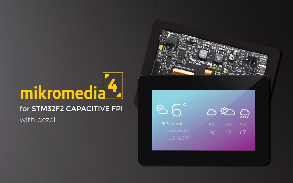 Mikromedia 4 for STM32F2 Capacitive FPI with bezel