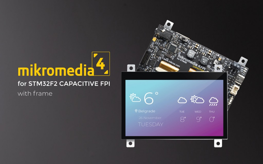 Mikromedia 4 for STM32F2 Capacitive FPI with frame