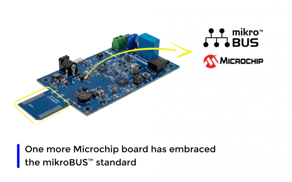 PL360G55CB Evaluation Board from Microchip has embraced the mikroBUS™ standard