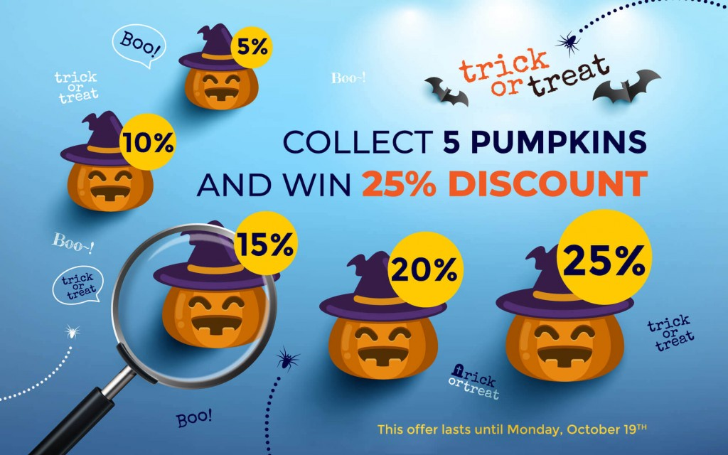 Trick or Treat - Win a 25% DISCOUNT!