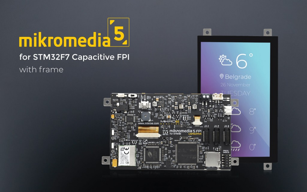 Mikromedia 5 for STM32F7 Capacitive FPI with frame