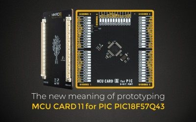 MCU Card 11 for PIC18F57Q43