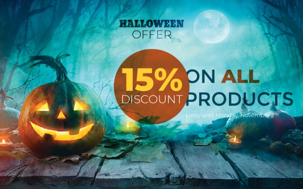Halloween is HERE - 15% discount on all orders