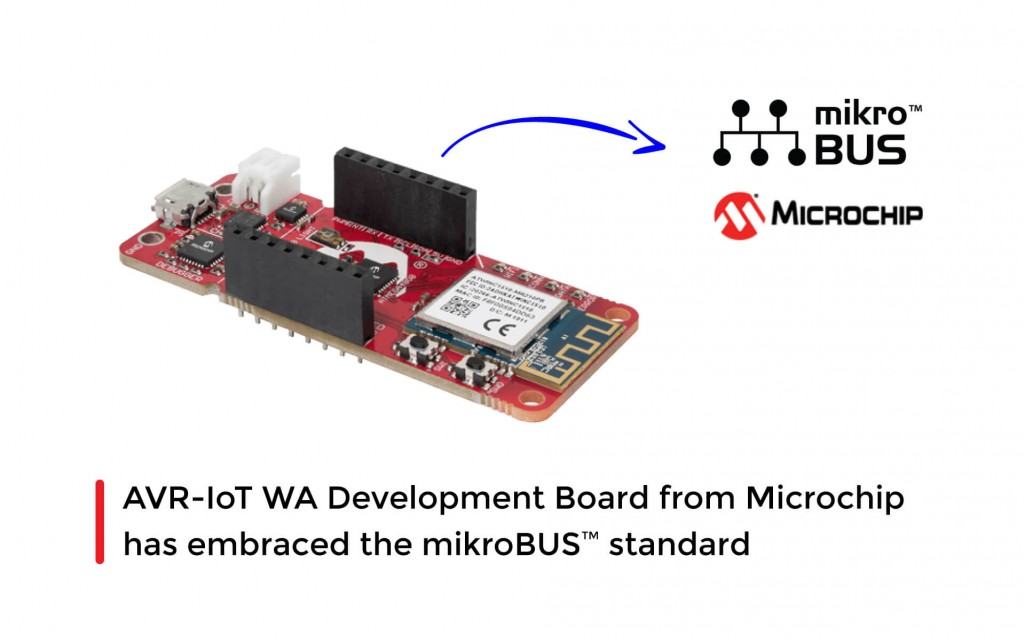 AVR-IoT WA Development BoardfromMicrochip has embraced the mikroBUS™ standard