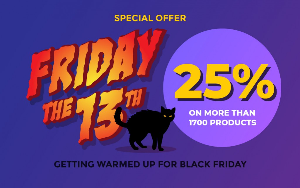 Scary Offer - 25% discount on EVERYTHING
