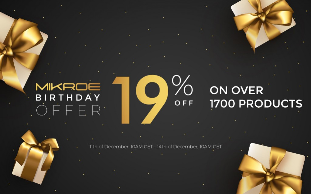 Special Birthday Offer - 19% off on 1700+ products