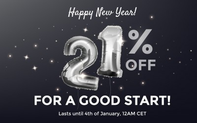 For a good start - 21% OFF on more than 1800 products
