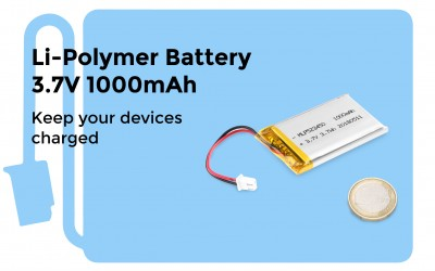 Li-Polymer Battery 3.7V 1000mAh