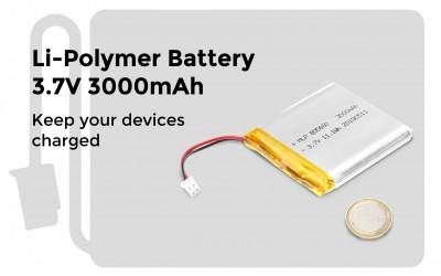 Li-Polymer Battery 3.7V 3000mAh
