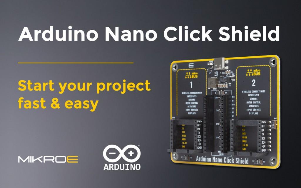 Arduino Nano Click Shield