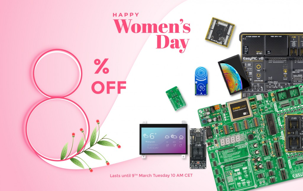 Happy Women's day! 8% off on 1800+ products in our shop