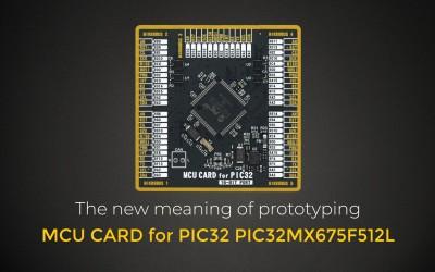 MCU CARD for PIC32 PIC32MX675F512L