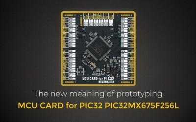 MCU CARD for PIC32 PIC32MX675F256L