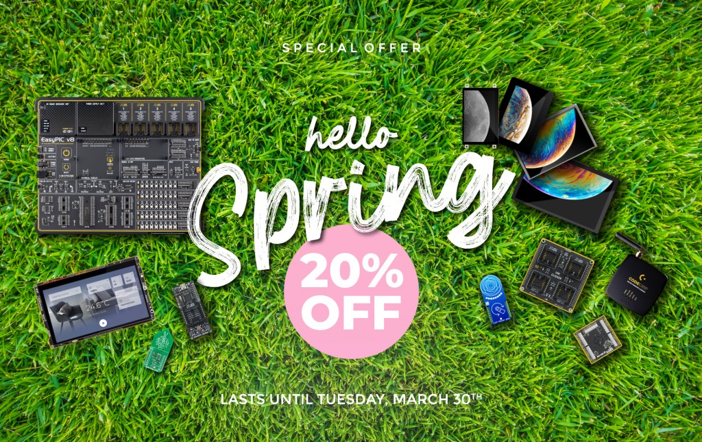 Hello Spring: 20% OFF on everything in our store