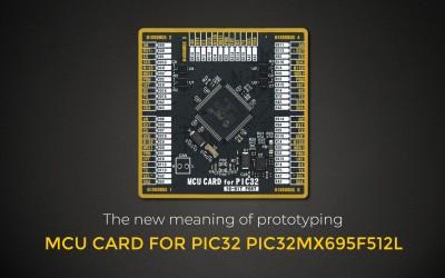 MCU CARD for PIC32 PIC32MX695F512L