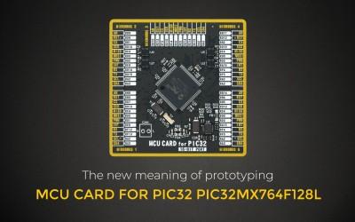 MCU CARD FOR PIC32 PIC32MX764F128L