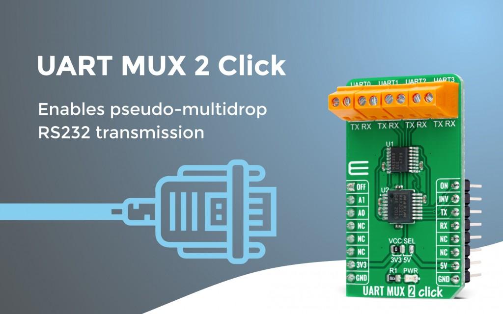 UART MUX 2 Click