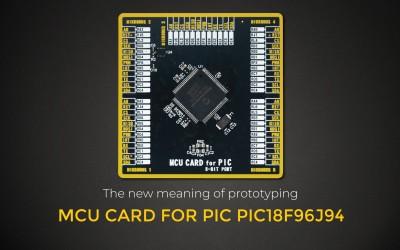 MCU CARD FOR PIC PIC18F96J94