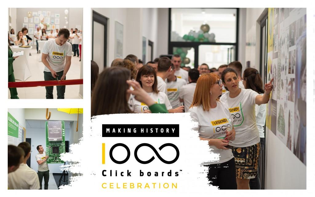 1000 Click boards CELEBRATION