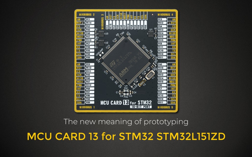 MCU CARD 13 FOR STM32 STM32L151ZD