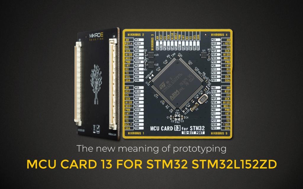 MCU CARD 13 FOR STM32 STM32L152ZD