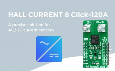 Hall Current 8 Click - 120A