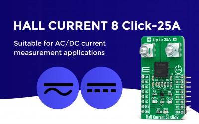 Hall Current 8 Click - 25A