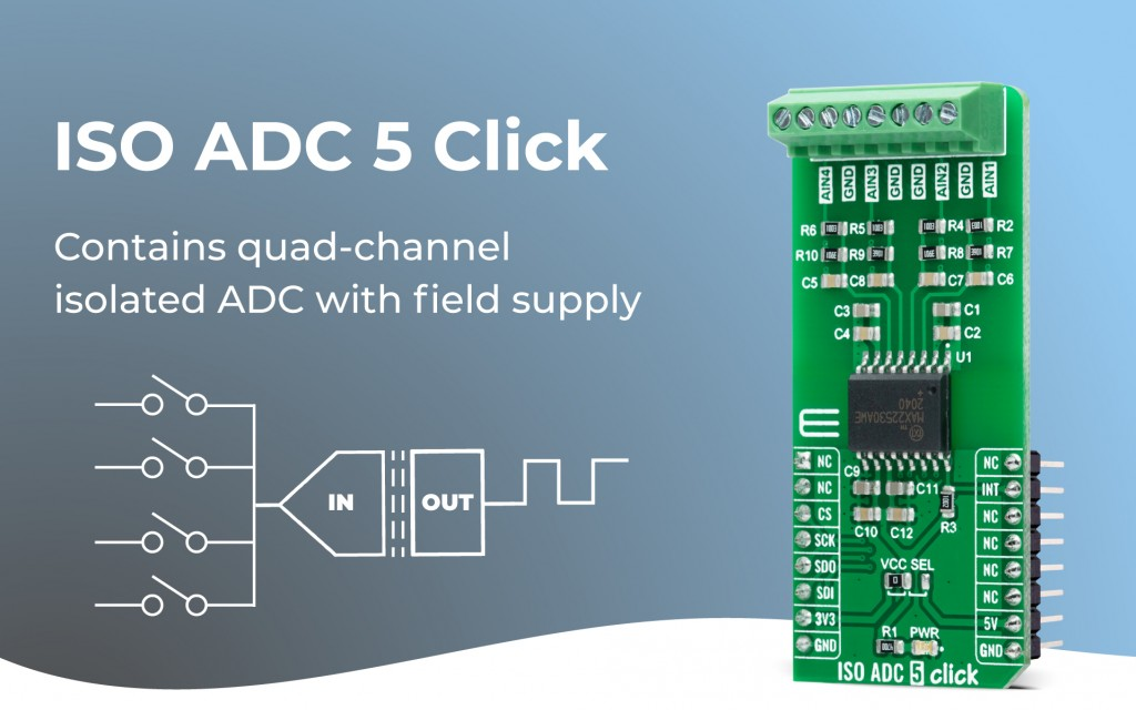 ISO ADC 5 Click