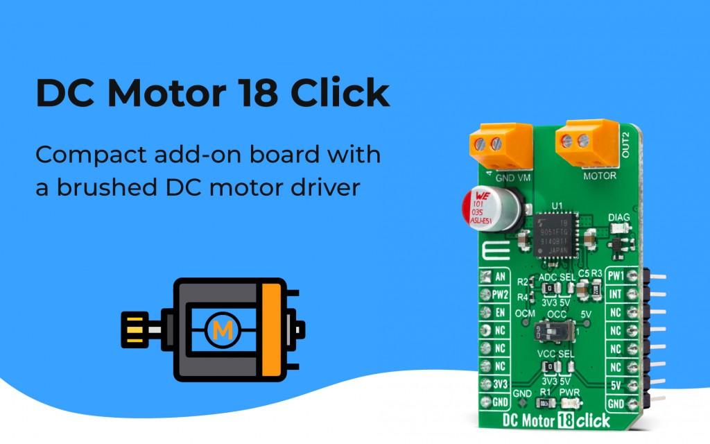 DC Motor 18 Click