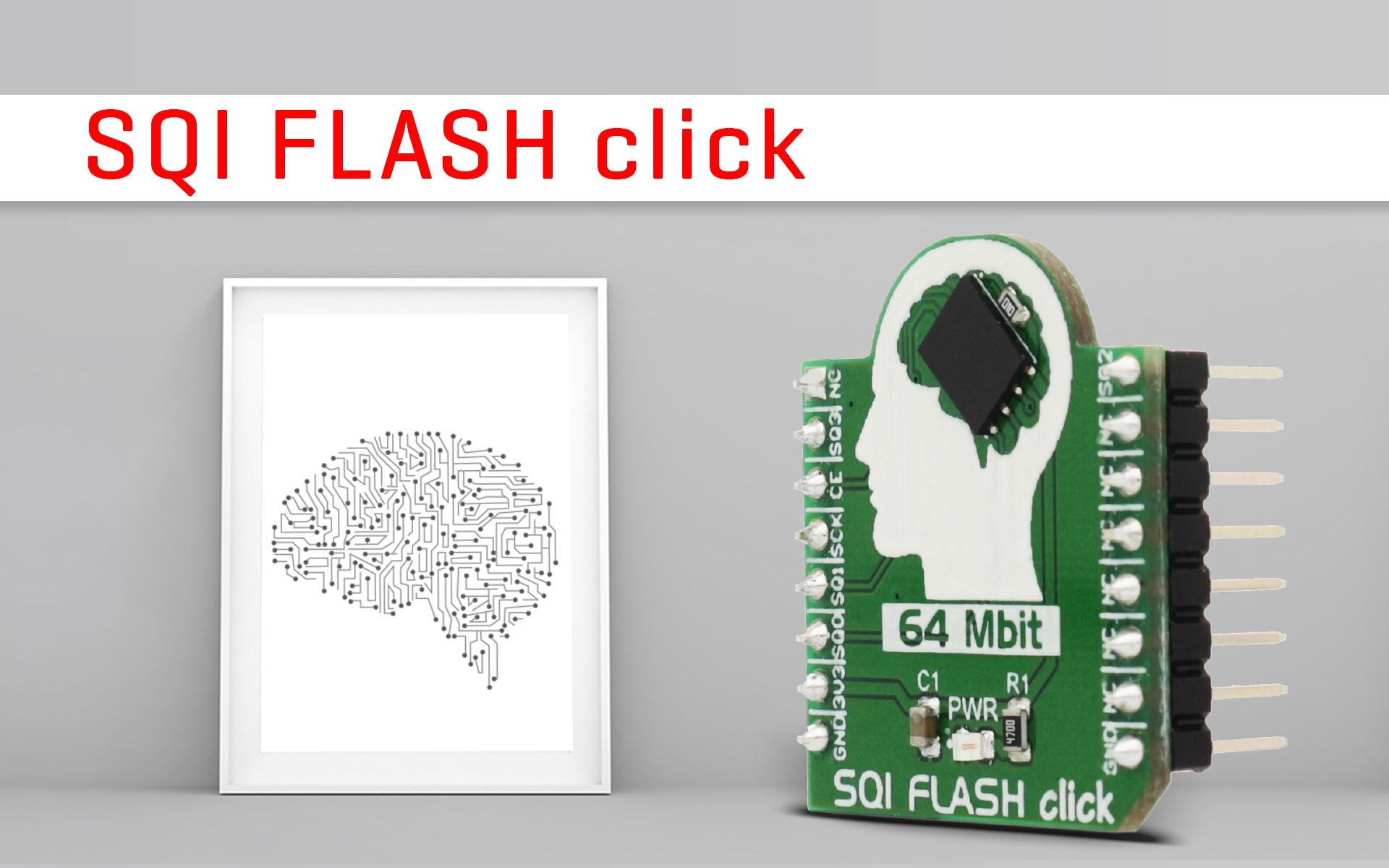 SQI FLASH click - 64 Mbit of non-volatile memory