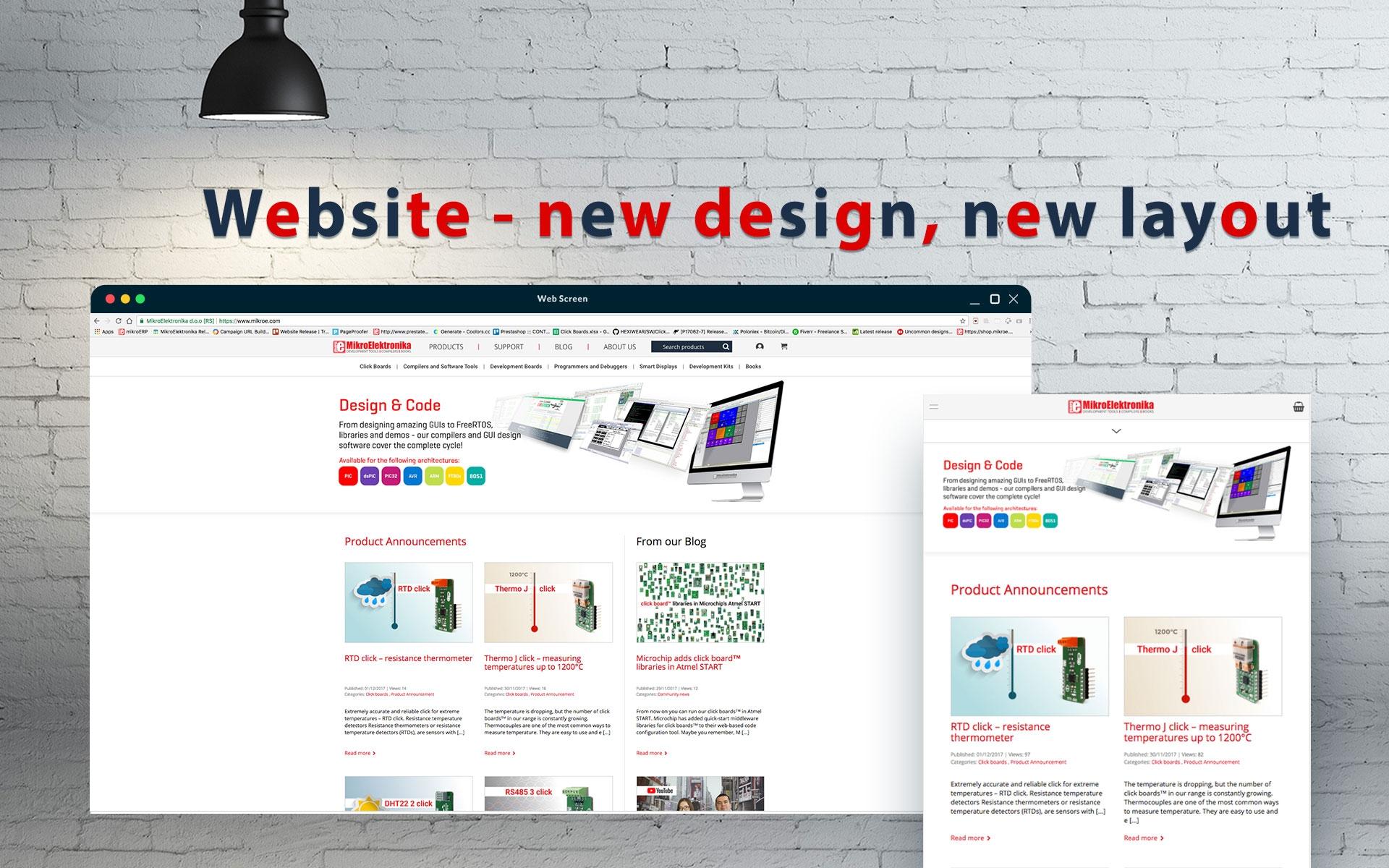 New design of the website - enjoy the improvements!