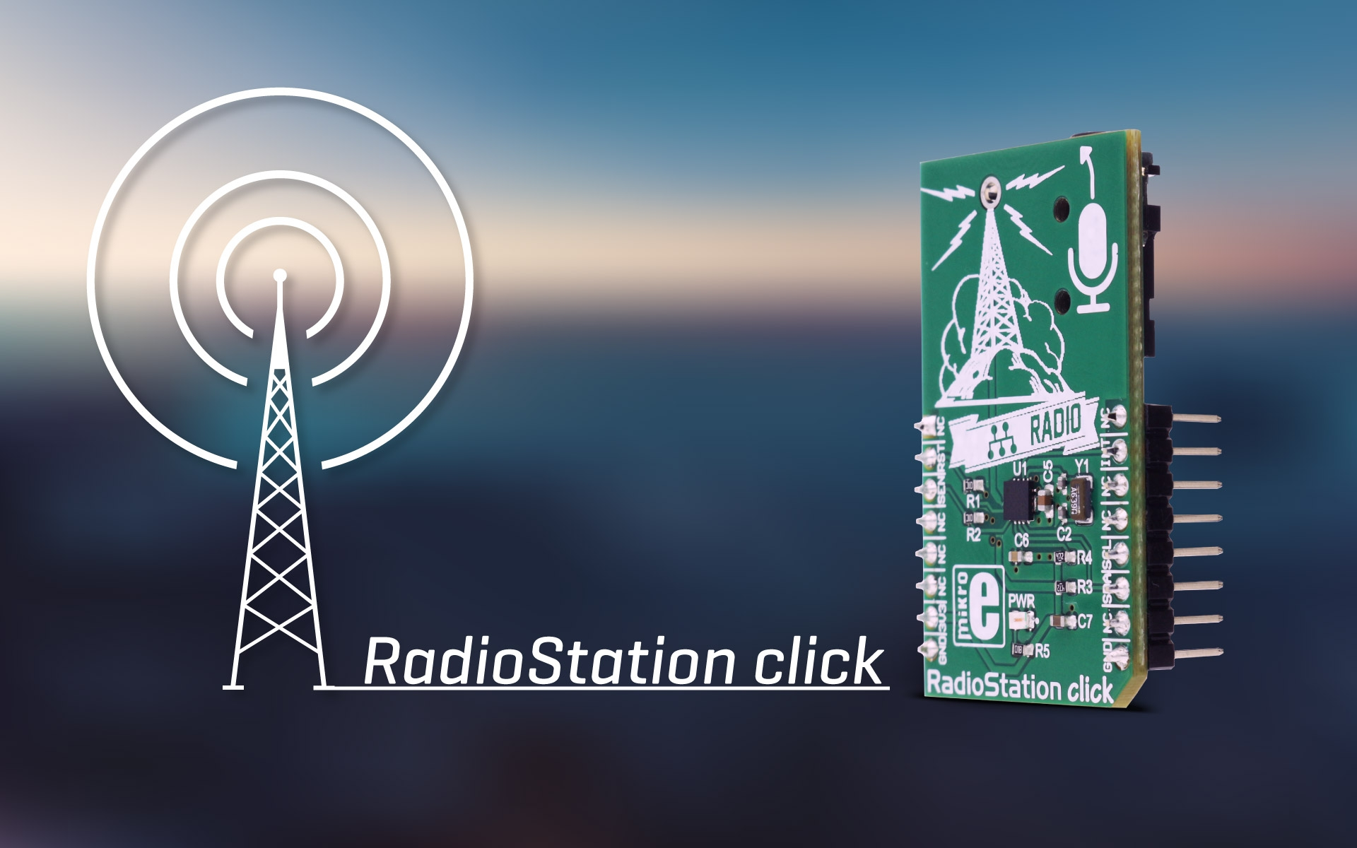 RadioStation click – integrated FM broadcast stereo transmitter