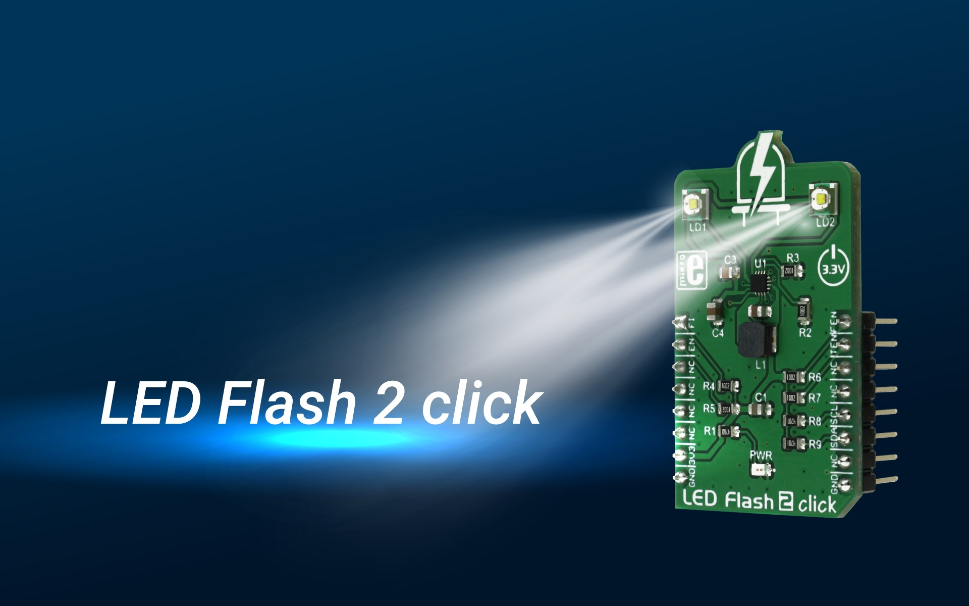 LED Flash 2 click - a high-efficiency flash LED driver