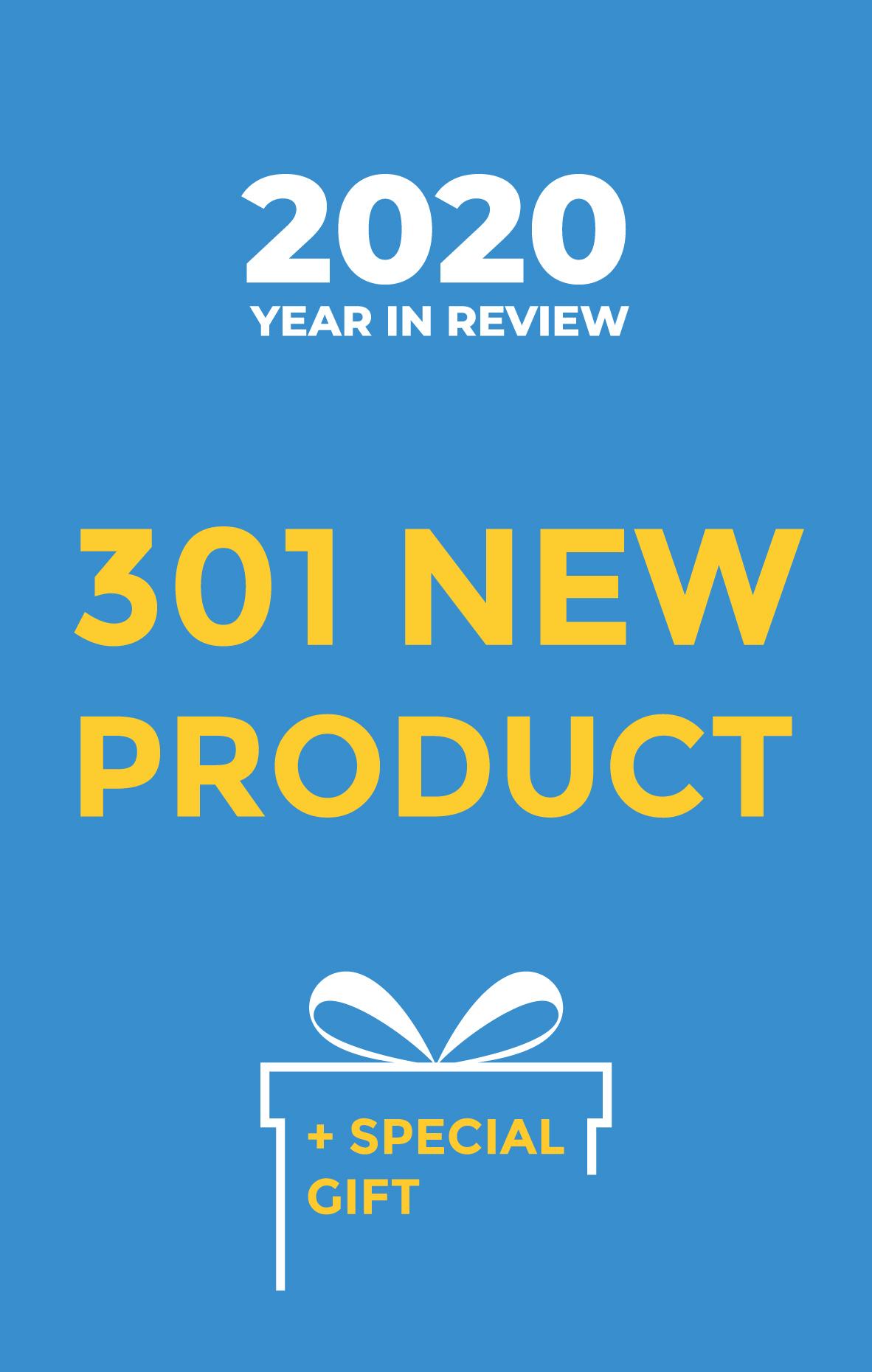 2020 recap 301 new product