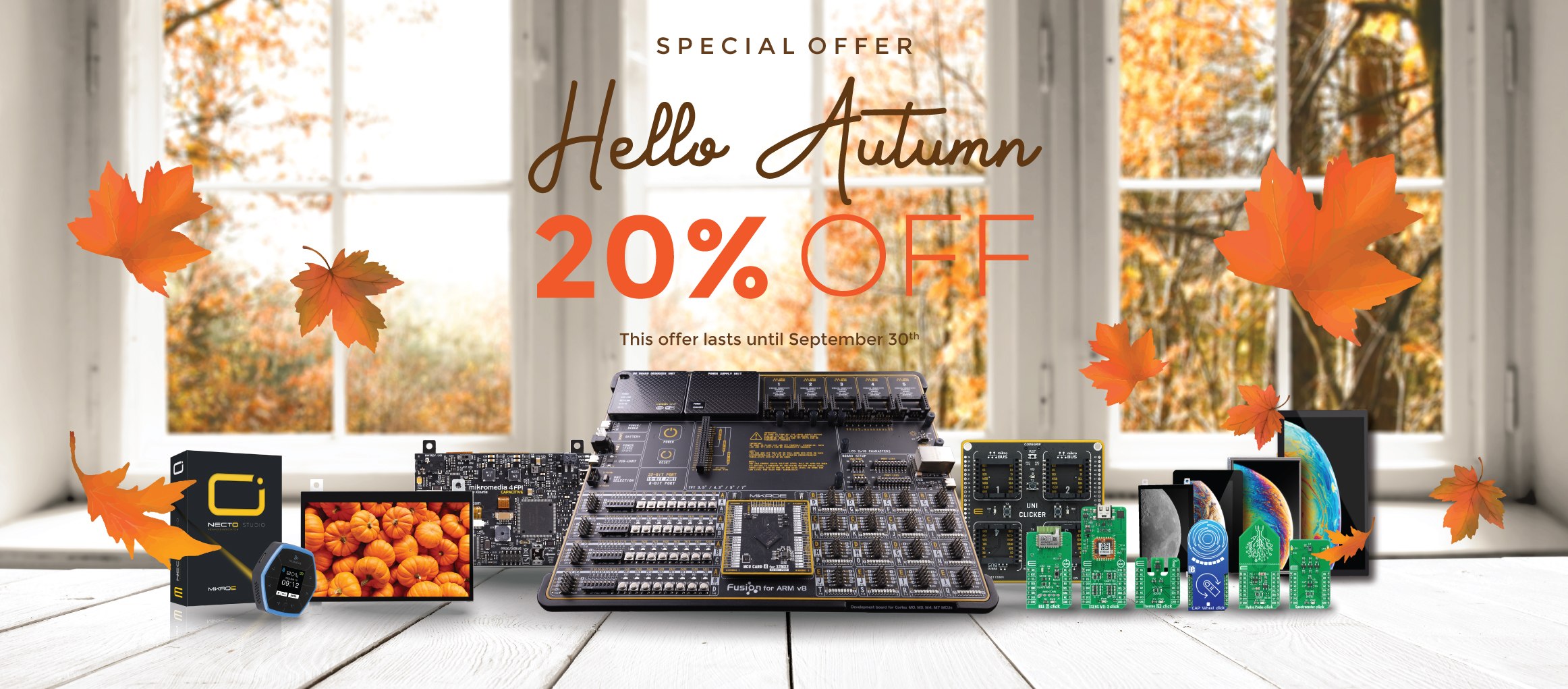 Fall into Autumn with 20% OFF