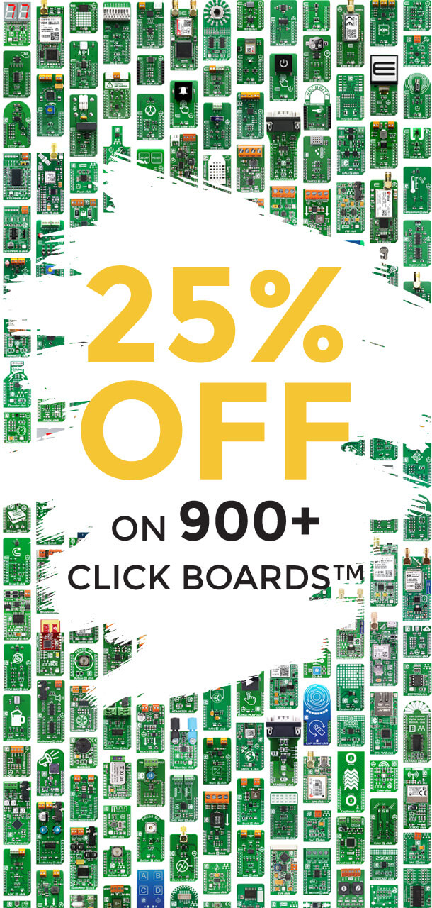 25% OFF Click boards™