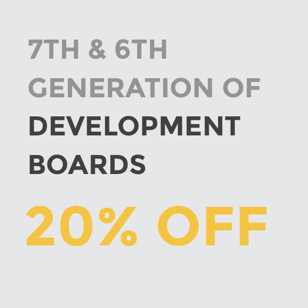 20% OFF DEVELOPMENT BOARDS